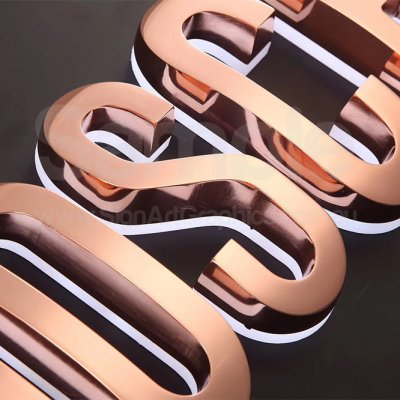 stainless-steel-rose-gold-copper-letters-illuminated-back-lit-2
